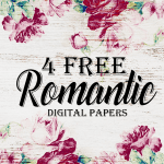 Romantic Rose Digital Scrapbooking Paper