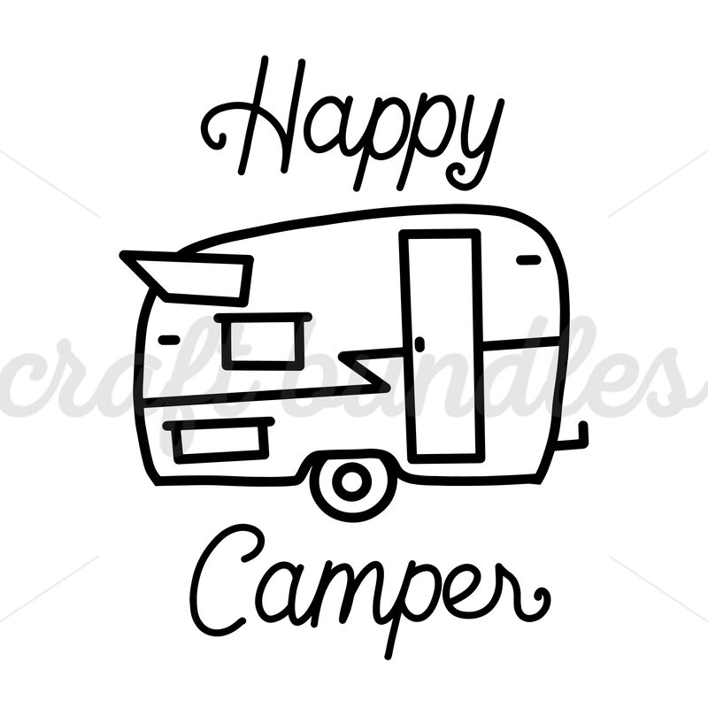 Free happy camper svg cut file