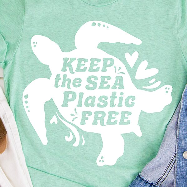 Keep the Sea Plastic Free SVG cut file