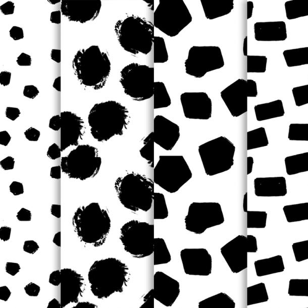 Free Minimal Preppy Dot Digital Paper