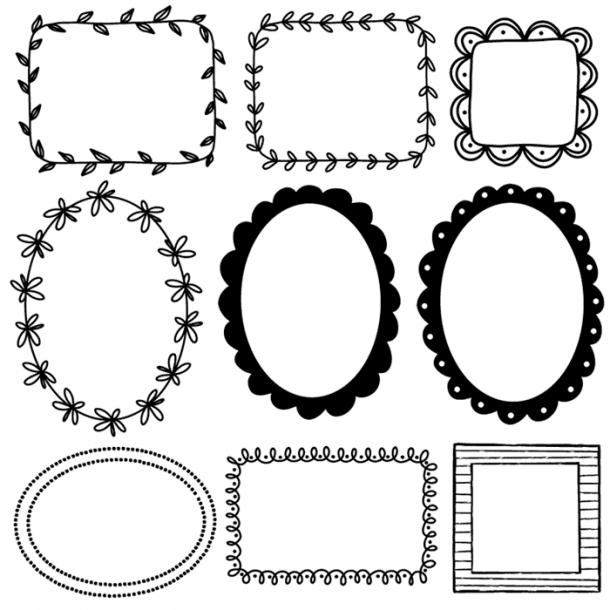 18 free doodle frames