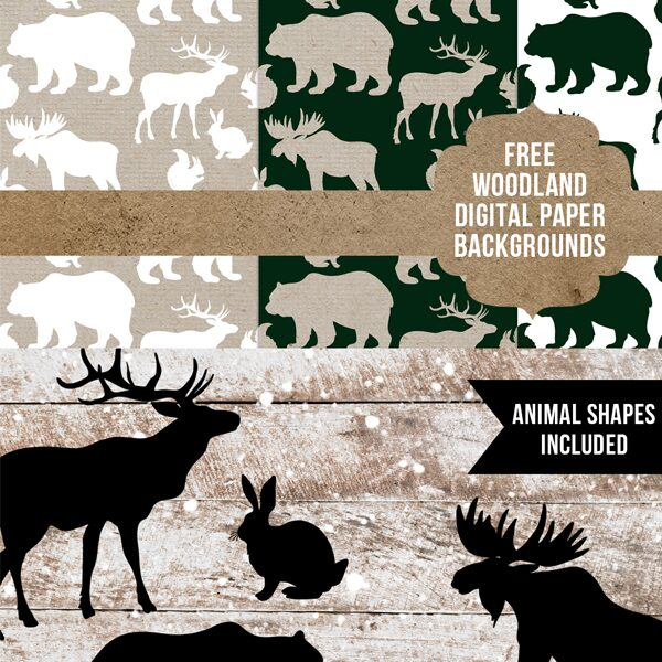Free woodland forest animal papers + clipart