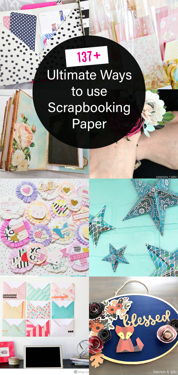 137+ ways to use scrapbook paper