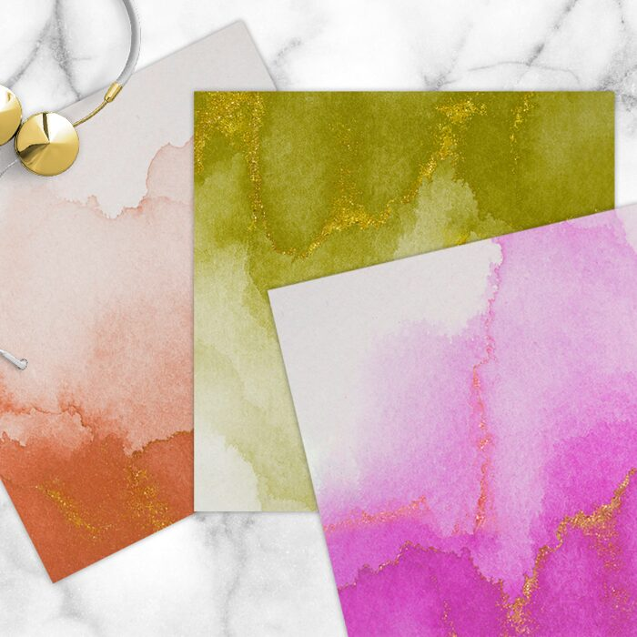 Free Jewel Tone Watercolor Digital Papers