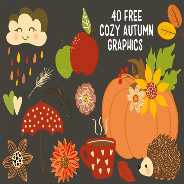 free cozy autumn graphics