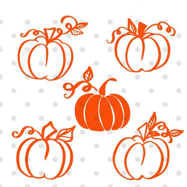 free pumpkin silhouettes vg