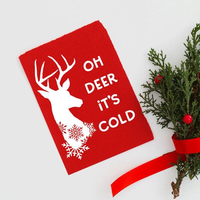 Winter Snowflake Deer SVG