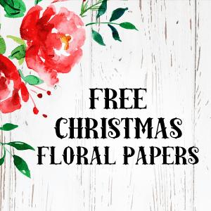 Free Farmhouse Floral Christmas Digital Paper