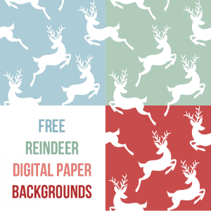 scrapbook reindeer digital paper