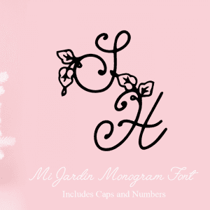 Free Monogram Craft Font: Mi Jardin