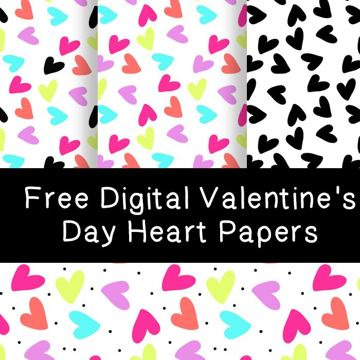 Free Digital Valentine's Day Heart Papers