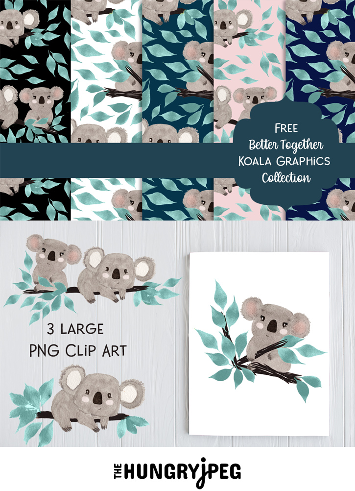Free Koala Digital Papers Clipart