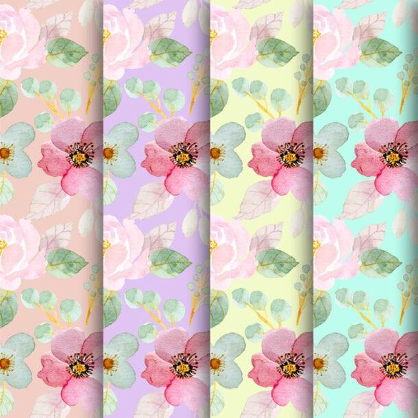Free Spring Floral Digital Papers