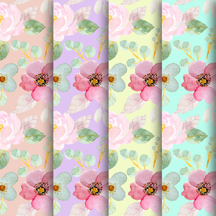 Free Spring Floral Digital Papers
