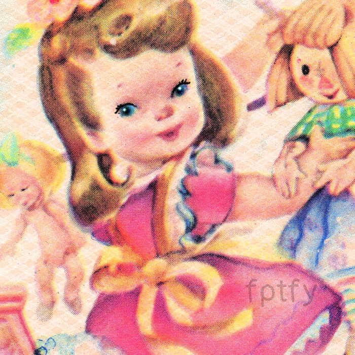 Free Vintage Laundry Girl Image