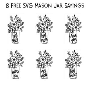 Free Mason Jar Flower SVG