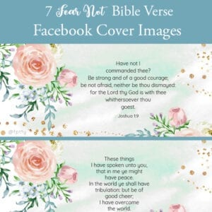 Seven Fear Not Bible Facebook Covers