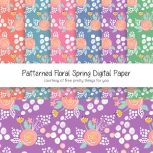 Patterned Floral Spring Digital Paper