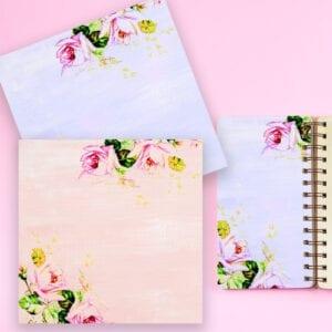 Free Vintage Spring Rose Digital Paper