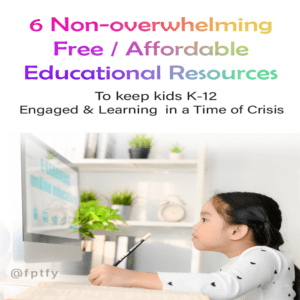6 Non-overwhelming Free/Affordable Educational Resources