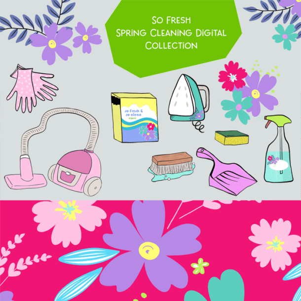 free spring cleaning graphics for download
