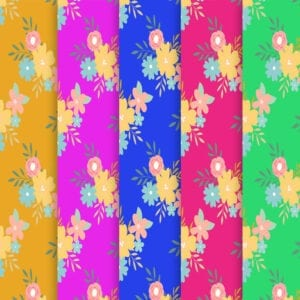 Free Colorful Floral Spring Scrapbooking Paper