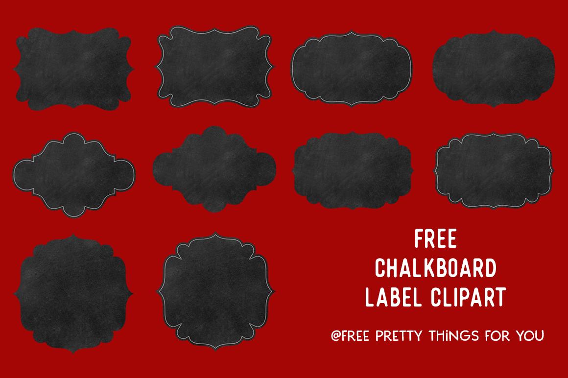 Free Chalkboard Label Clipart