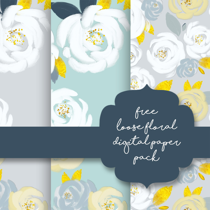 Free Loose Floral Digital Papers