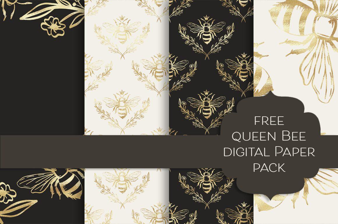 Queen Bee Free Digital Papers