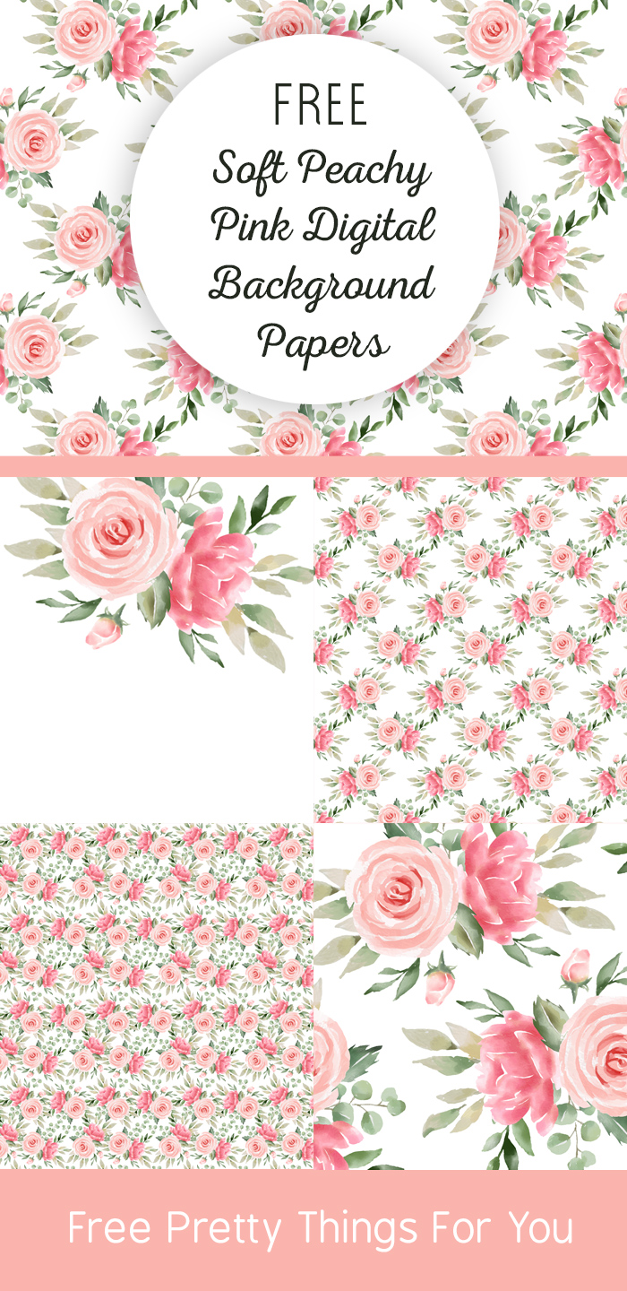 peachy pink rose digital backgrounds
