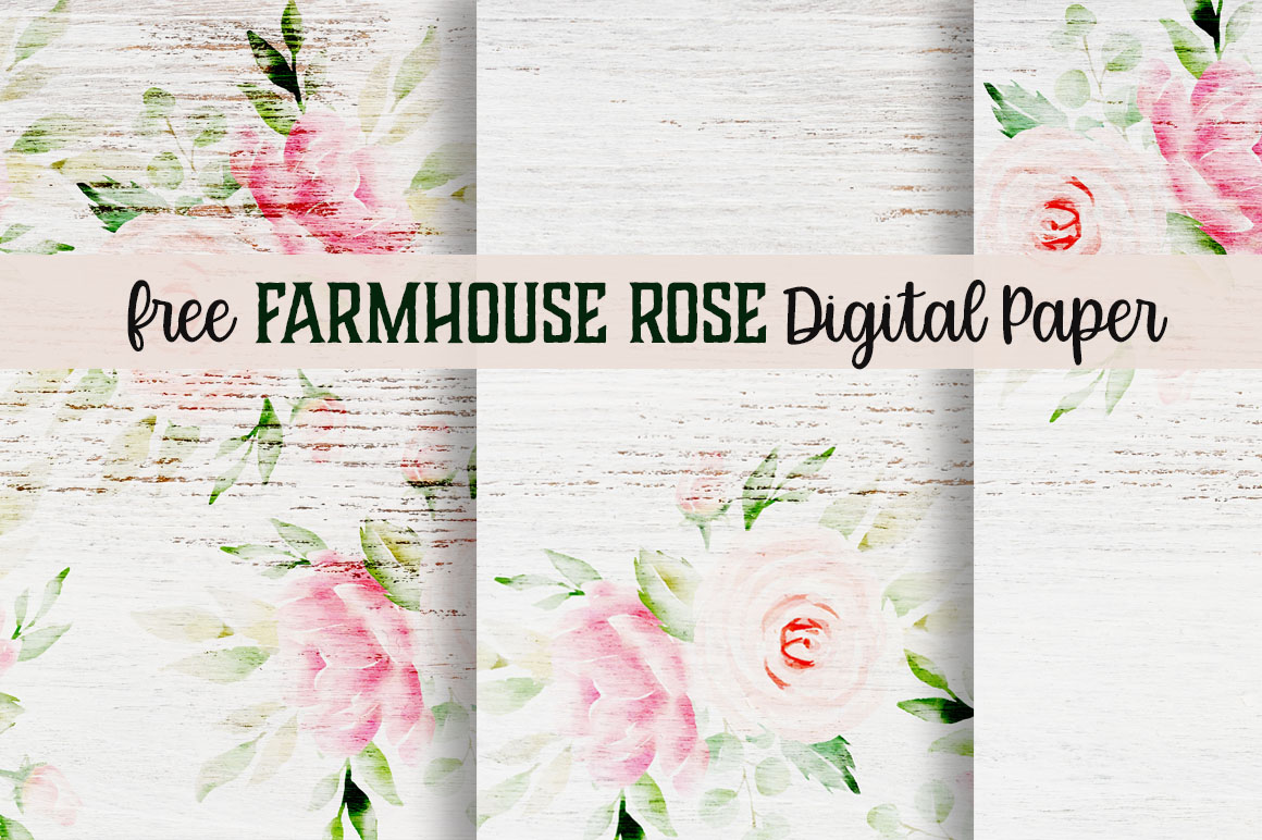 Free Farmhouse Rose Digital Paper