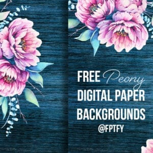 Pink and Navy and Peony Digital Papers