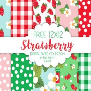 Free Strawberry Digipaper