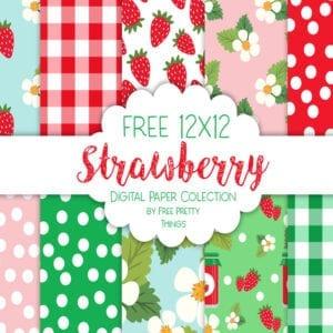 Free Strawberry Digipaper