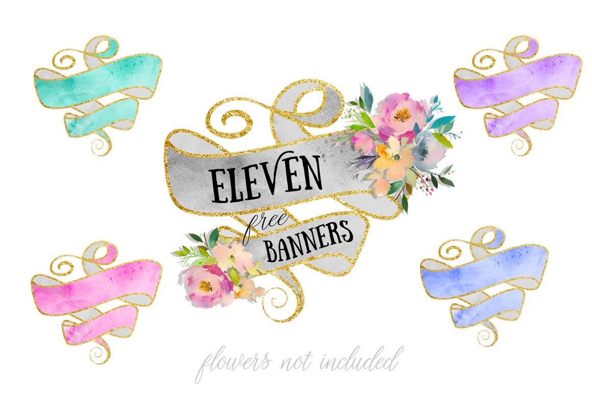 11 Free Watercolor Banners