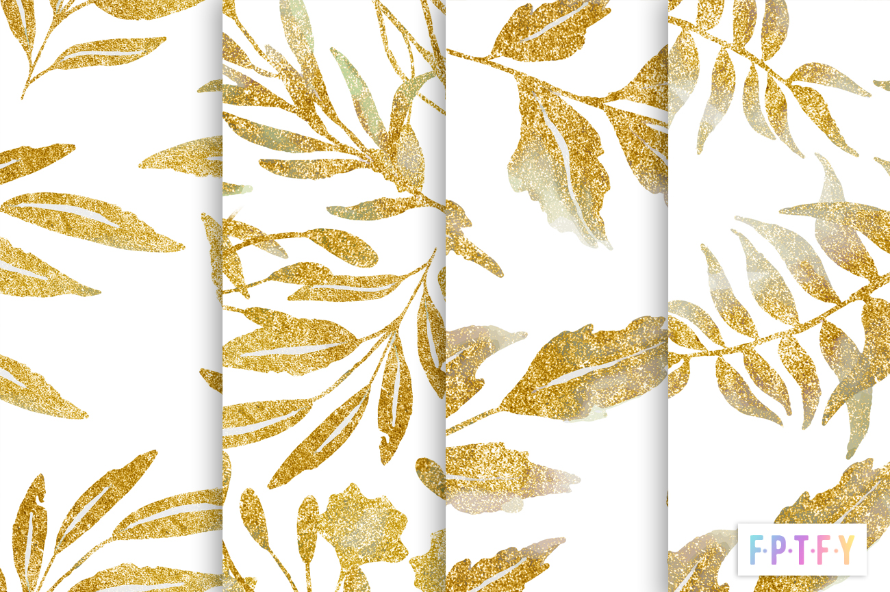 gold leaf shimmery digipapers