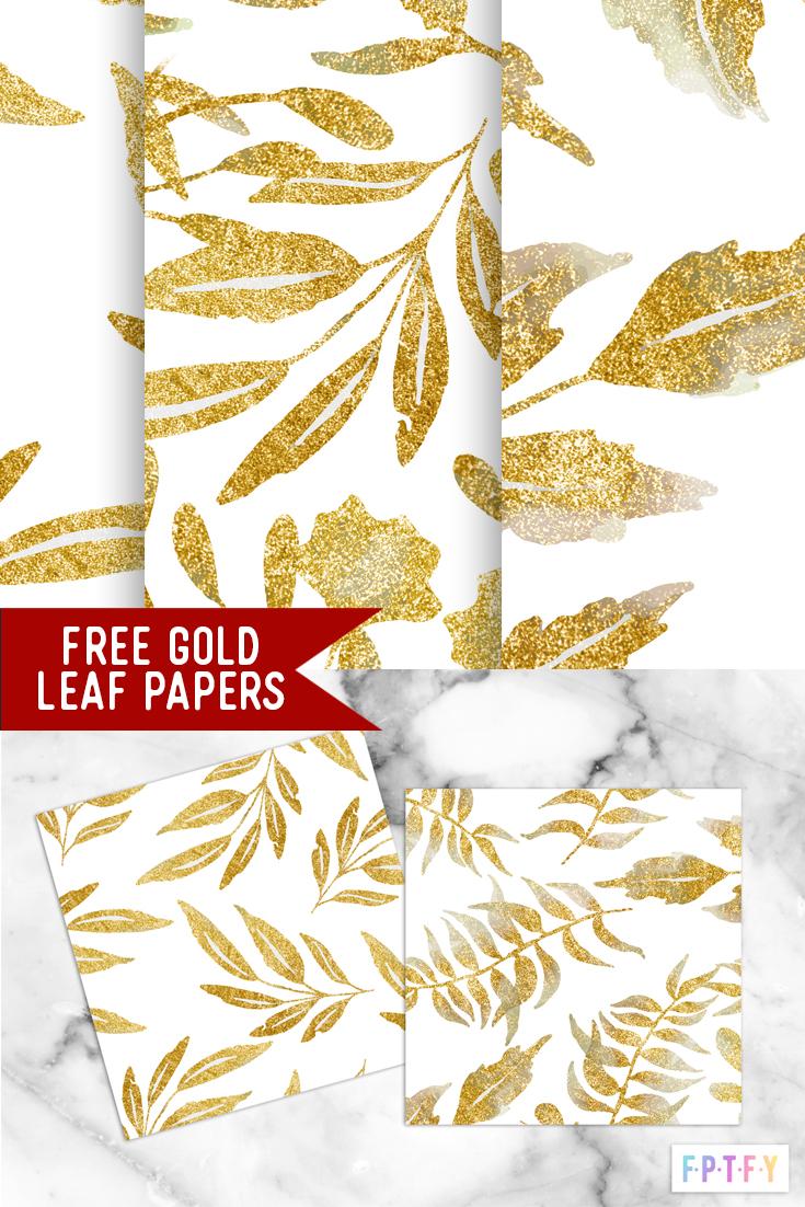 gold leaf shimmery digipapers