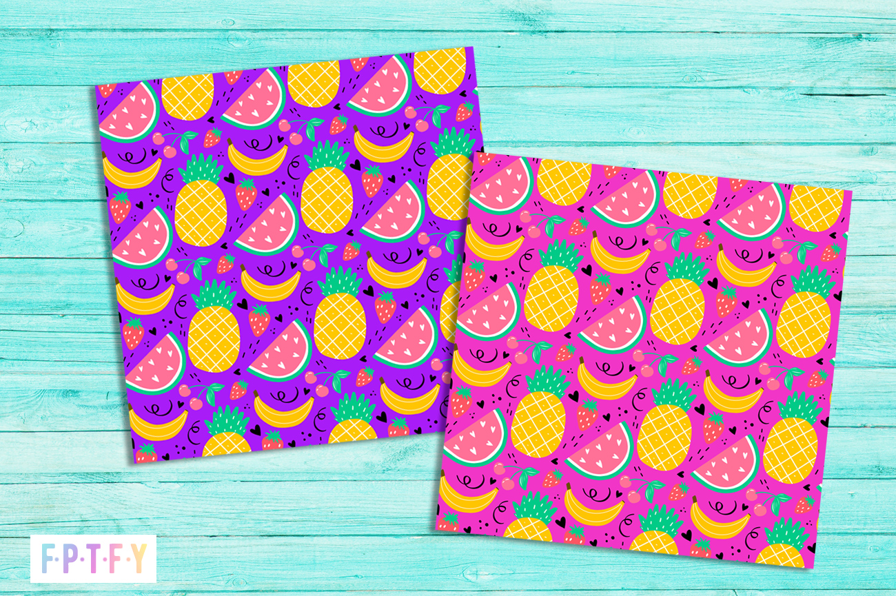free summer fruit digipaper