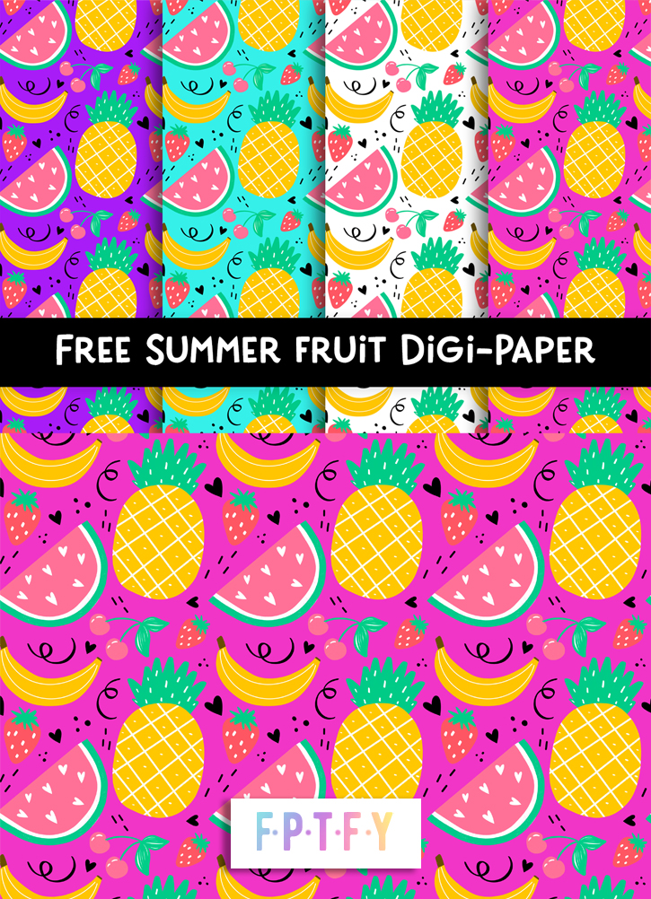 4 Free Summer Fruit Digital Paper