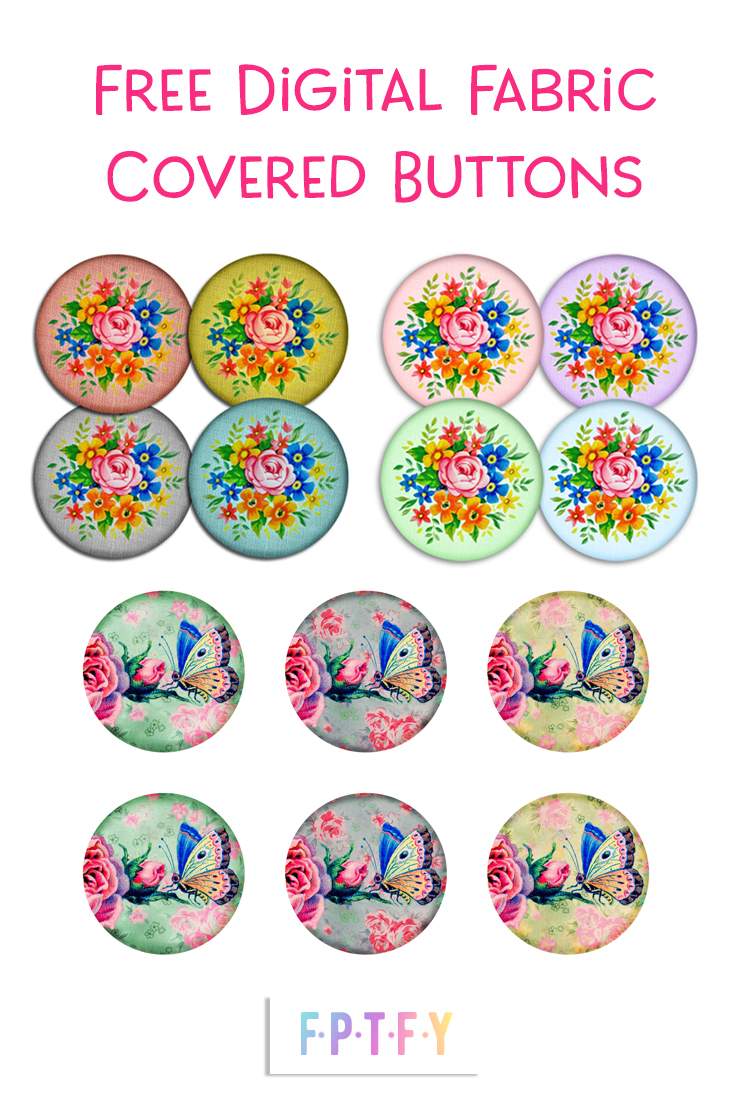 Free Digital Scrapbooking Fabric Covered Buttons
