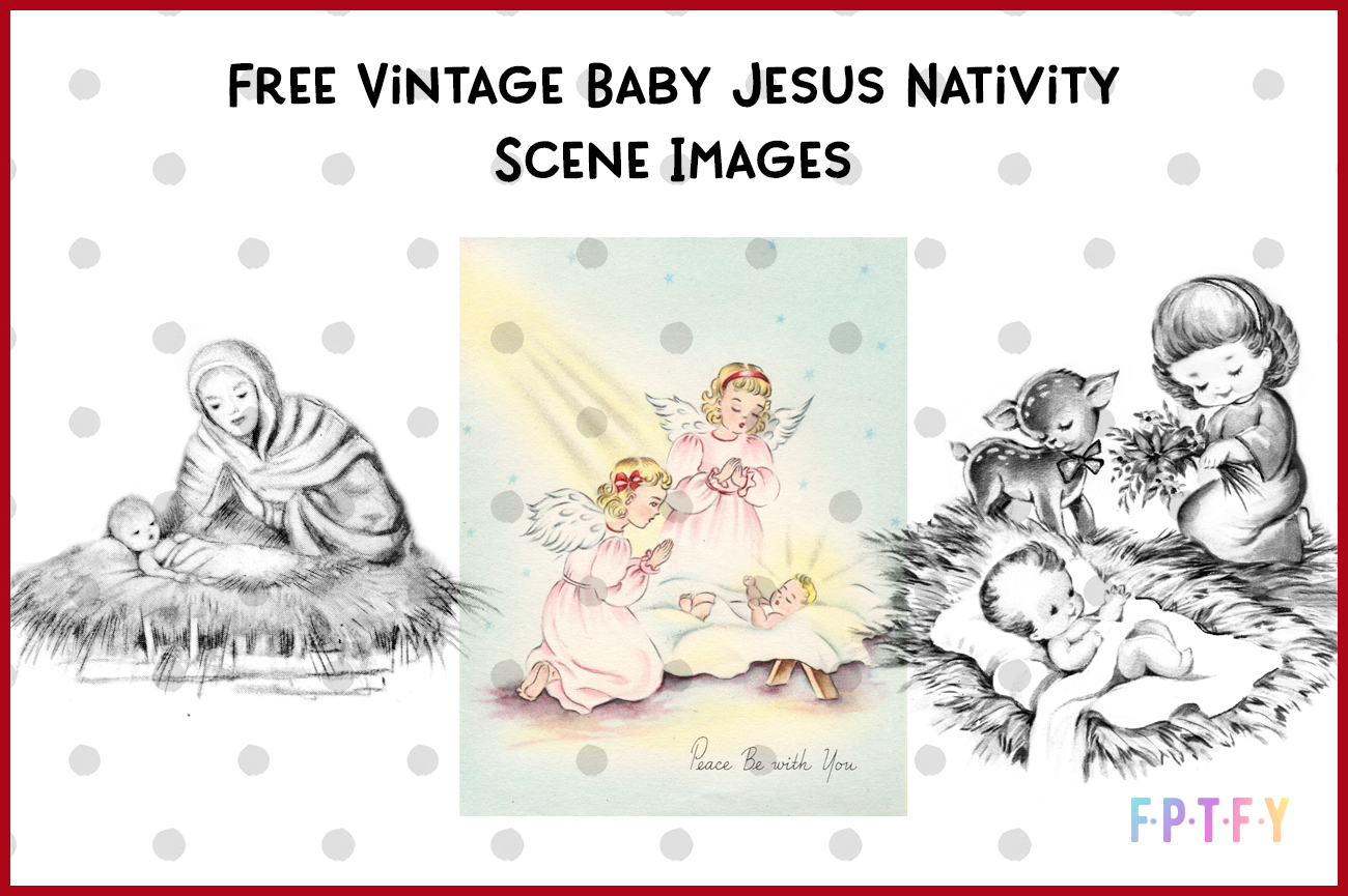 Free Vintage Baby Jesus Nativity Images