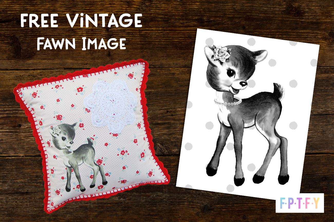Free Black and White Vintage Fawn