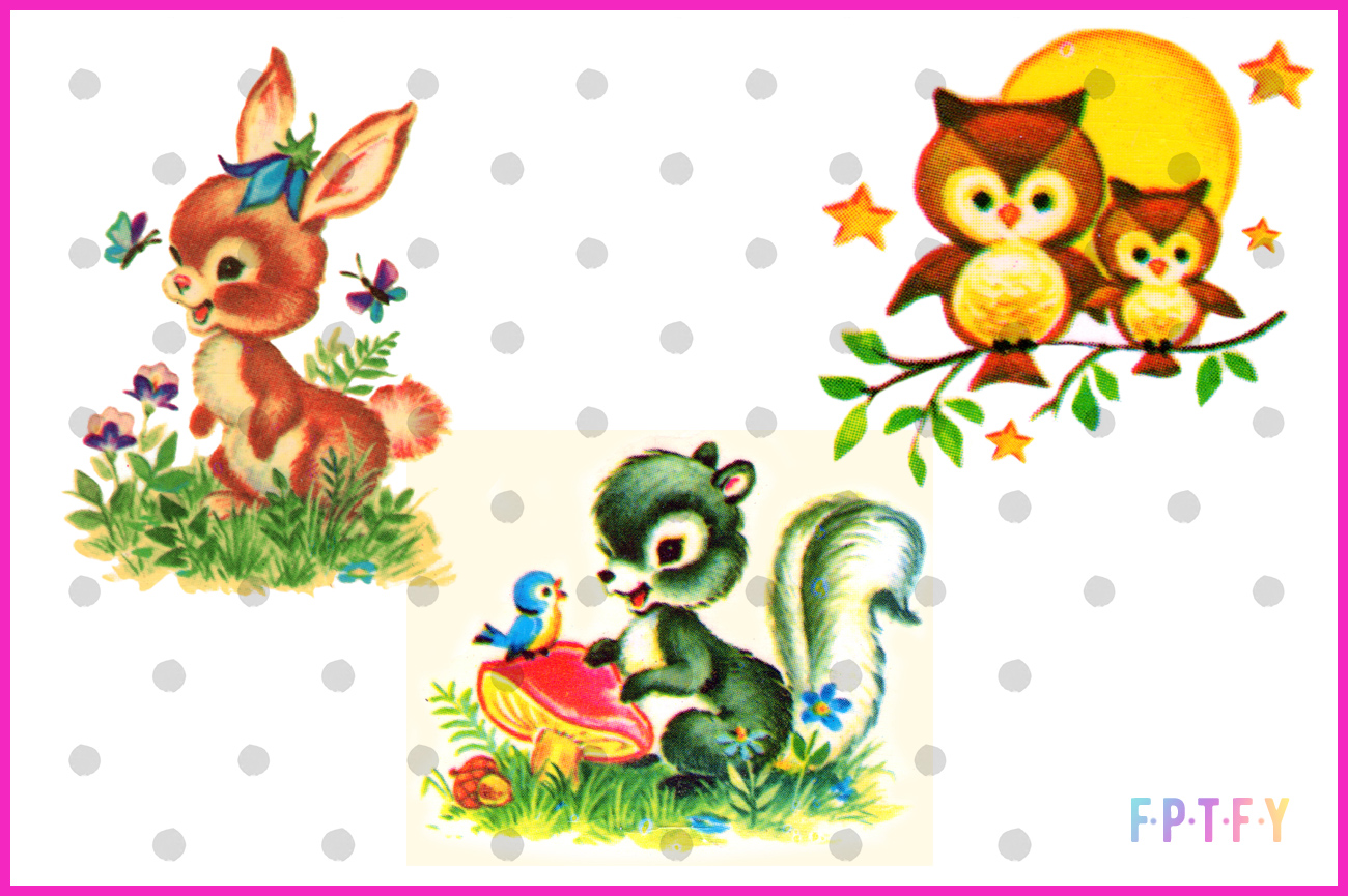 Free Vintage Woodland Animal Images-