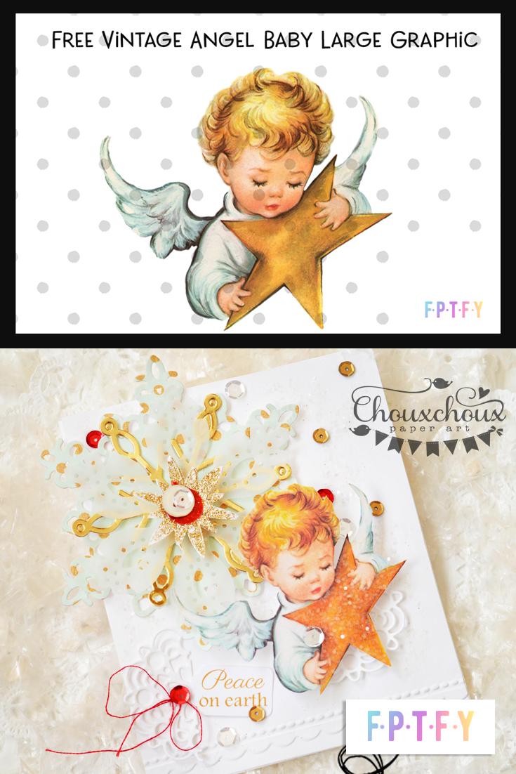 free baby angel vintage image
