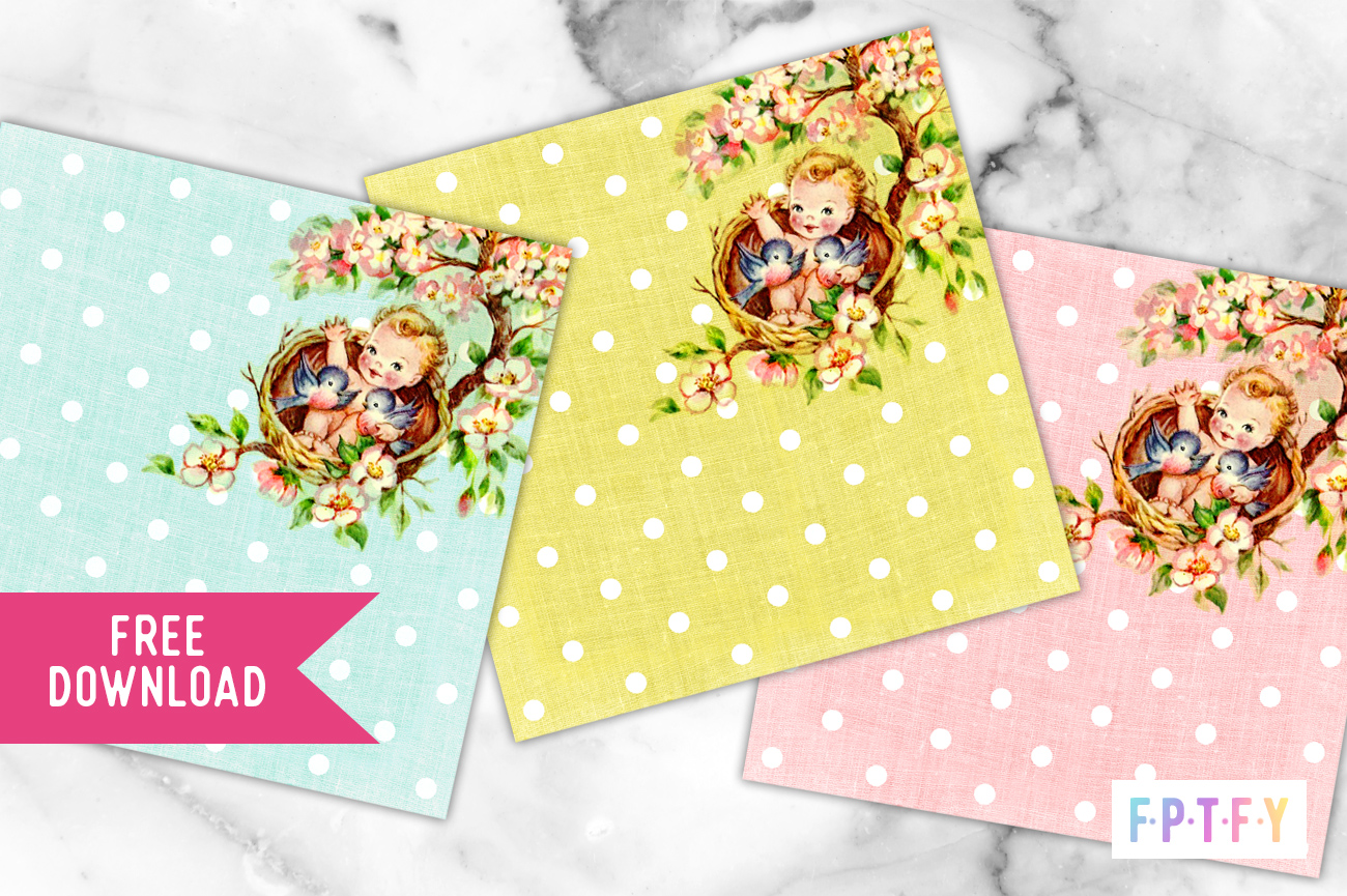 3 Free Baby digital paper backgrounds
