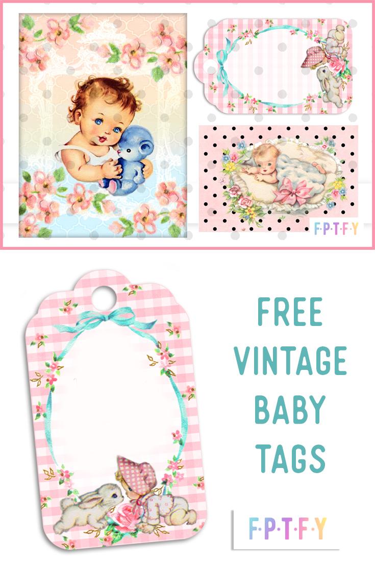 Free Vintage Baby Printable Tags