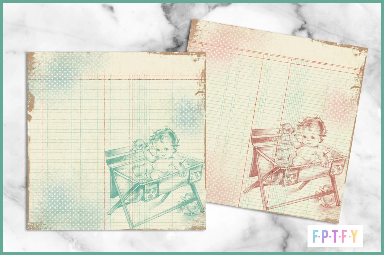 Free Vintage Digital Scrapbooking Paper Vintage Baby