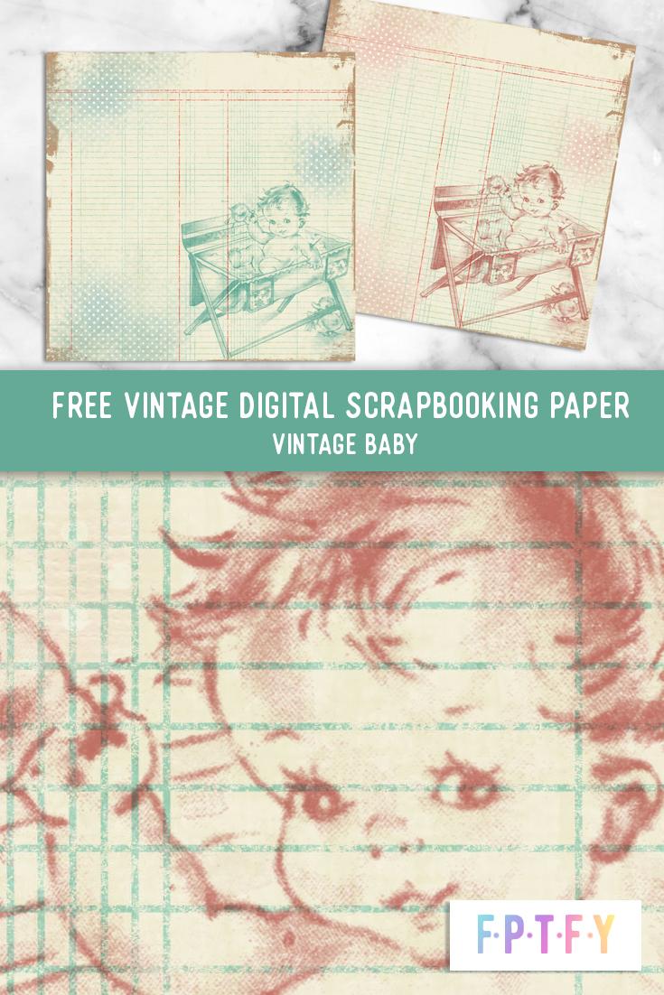 Free Baby Vintage Digital Scrapbooking Paper