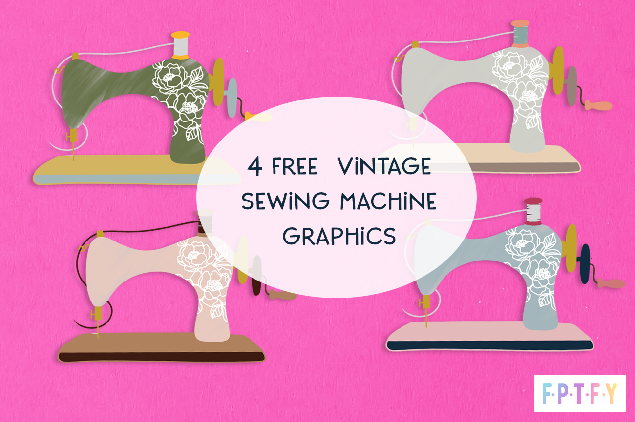 free vintage sewing machine graphics