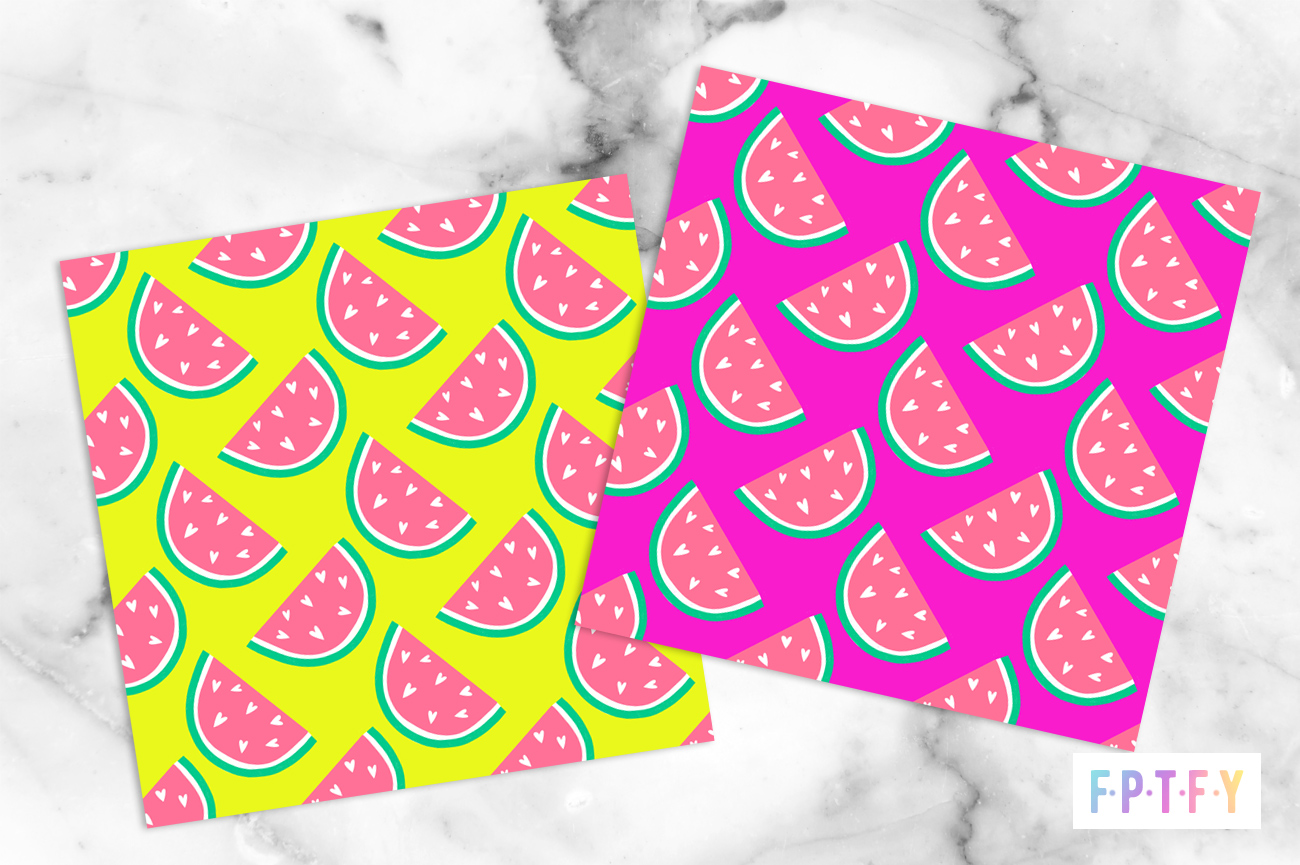free watermelon digital paper